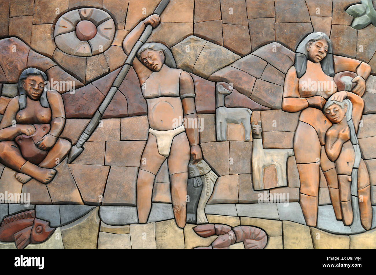 Indigenous people - Stock Image