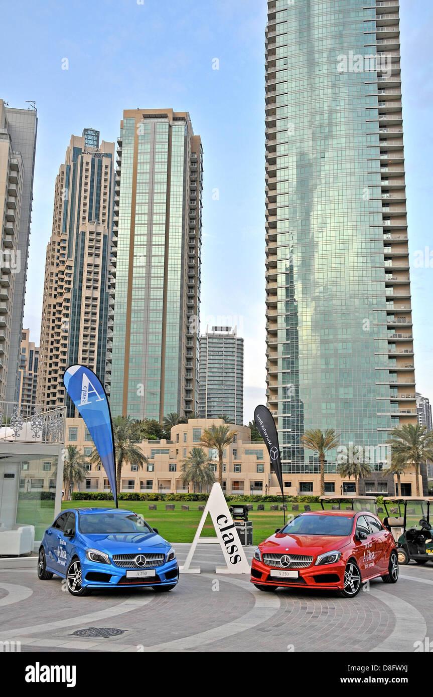 Mercedes class A exhibition Dubai - Stock Image