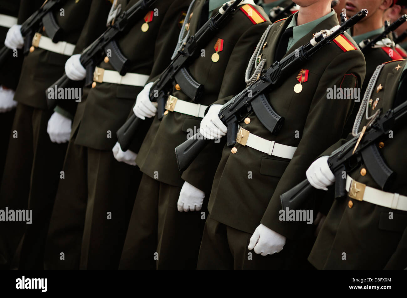 Armed forces concept , selective focus - Stock Image