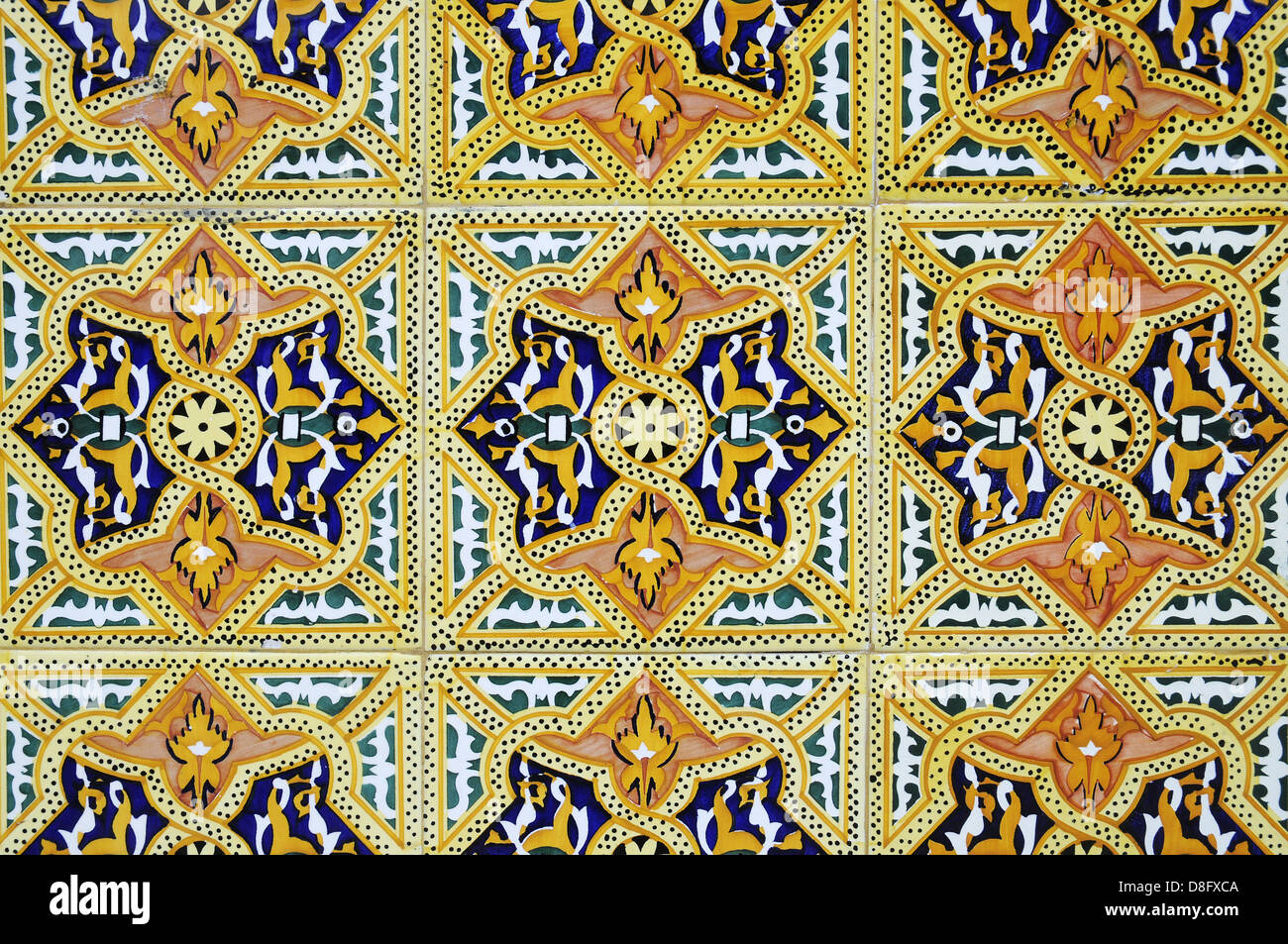 Old tiles - Stock Image
