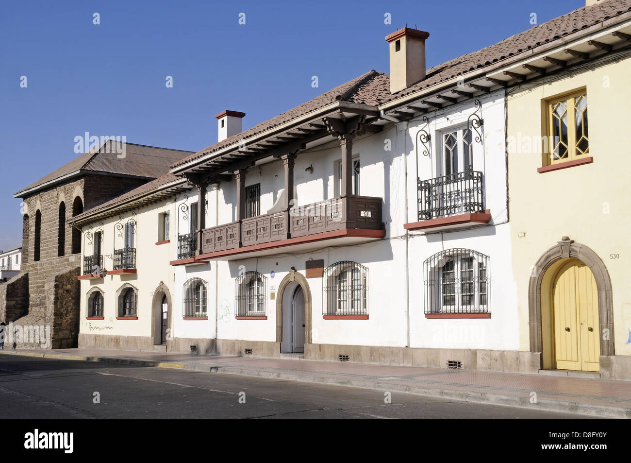 house fronts - Stock Image