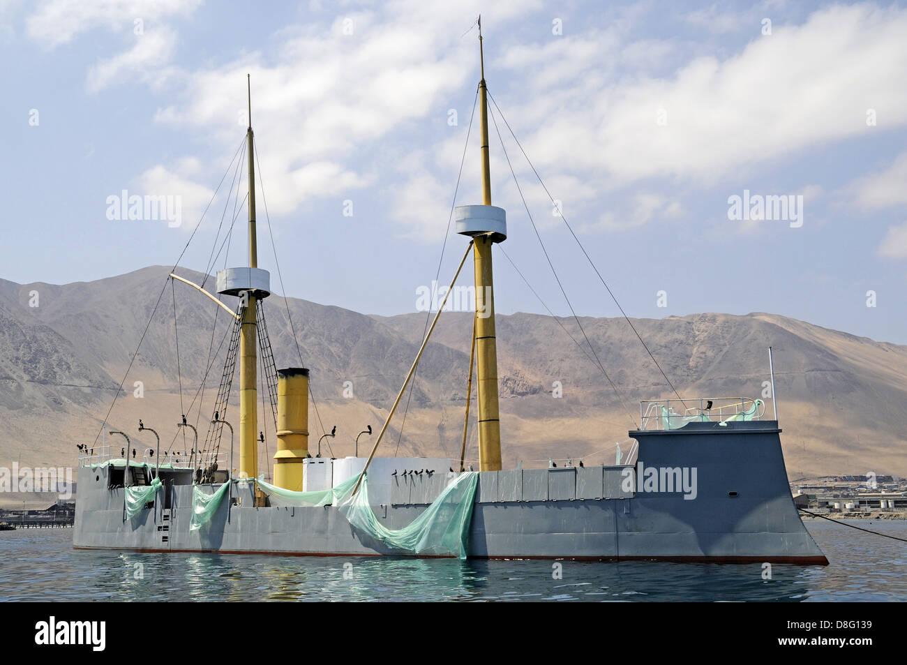 historic war ship Stock Photo