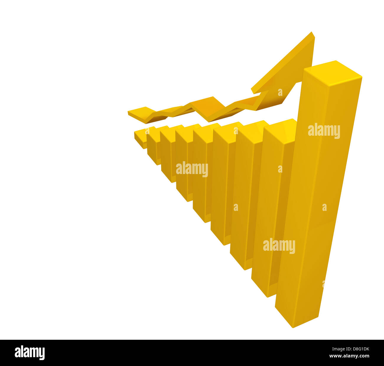 diagram gold up - Stock Image