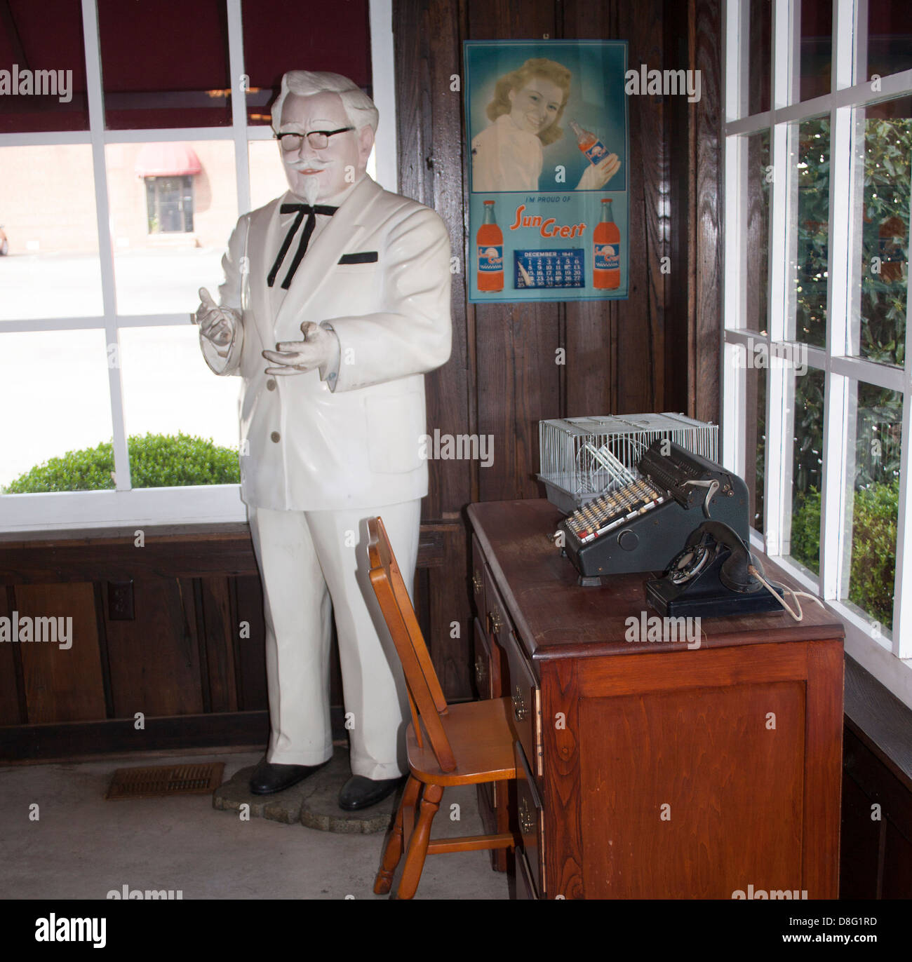 Colonel Harland Sanders Cafe and Museum in Corbin Kentucky - Stock Image