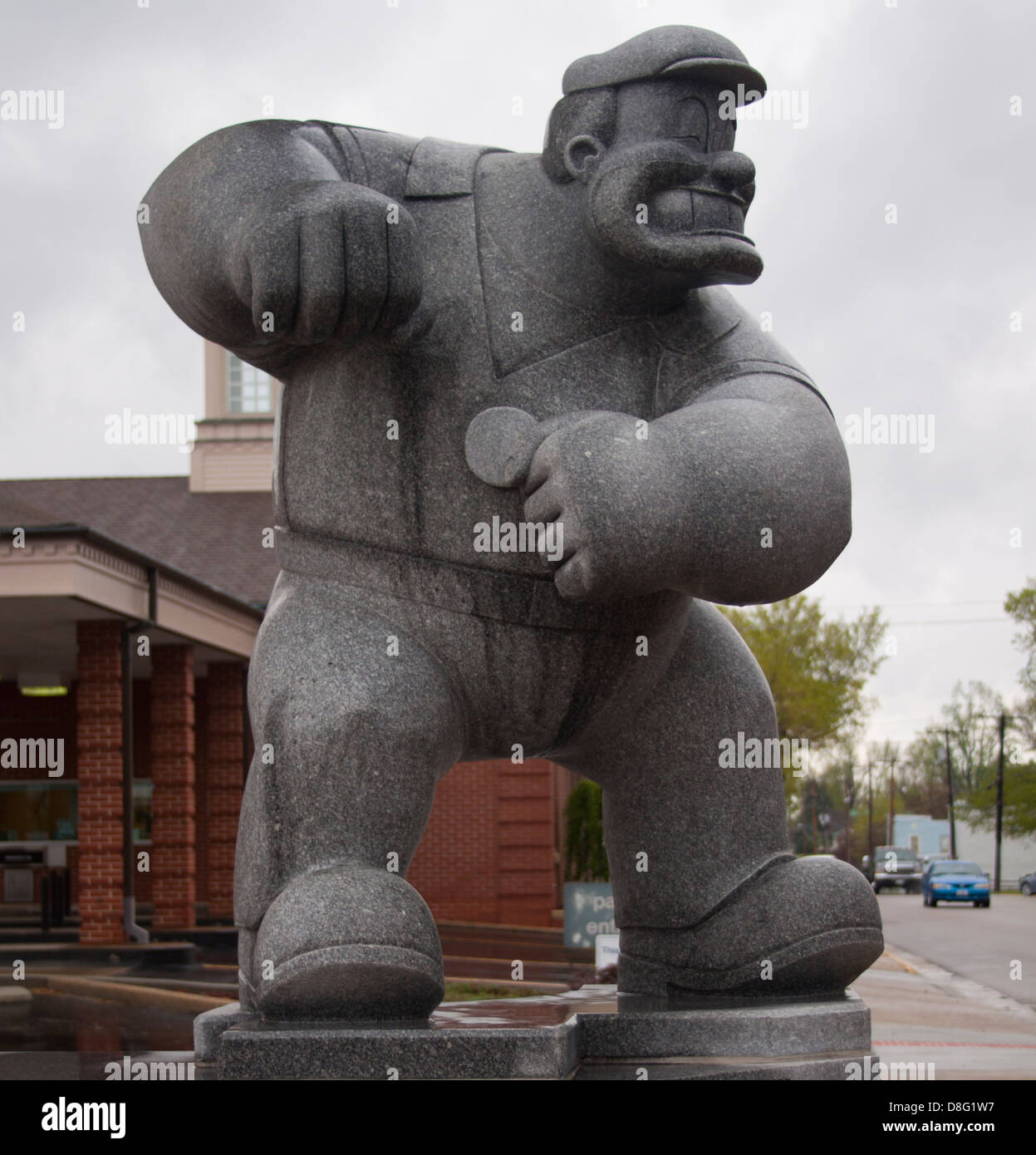 Pluto Statue in Chester Illinois Home of Popeye - Stock Image