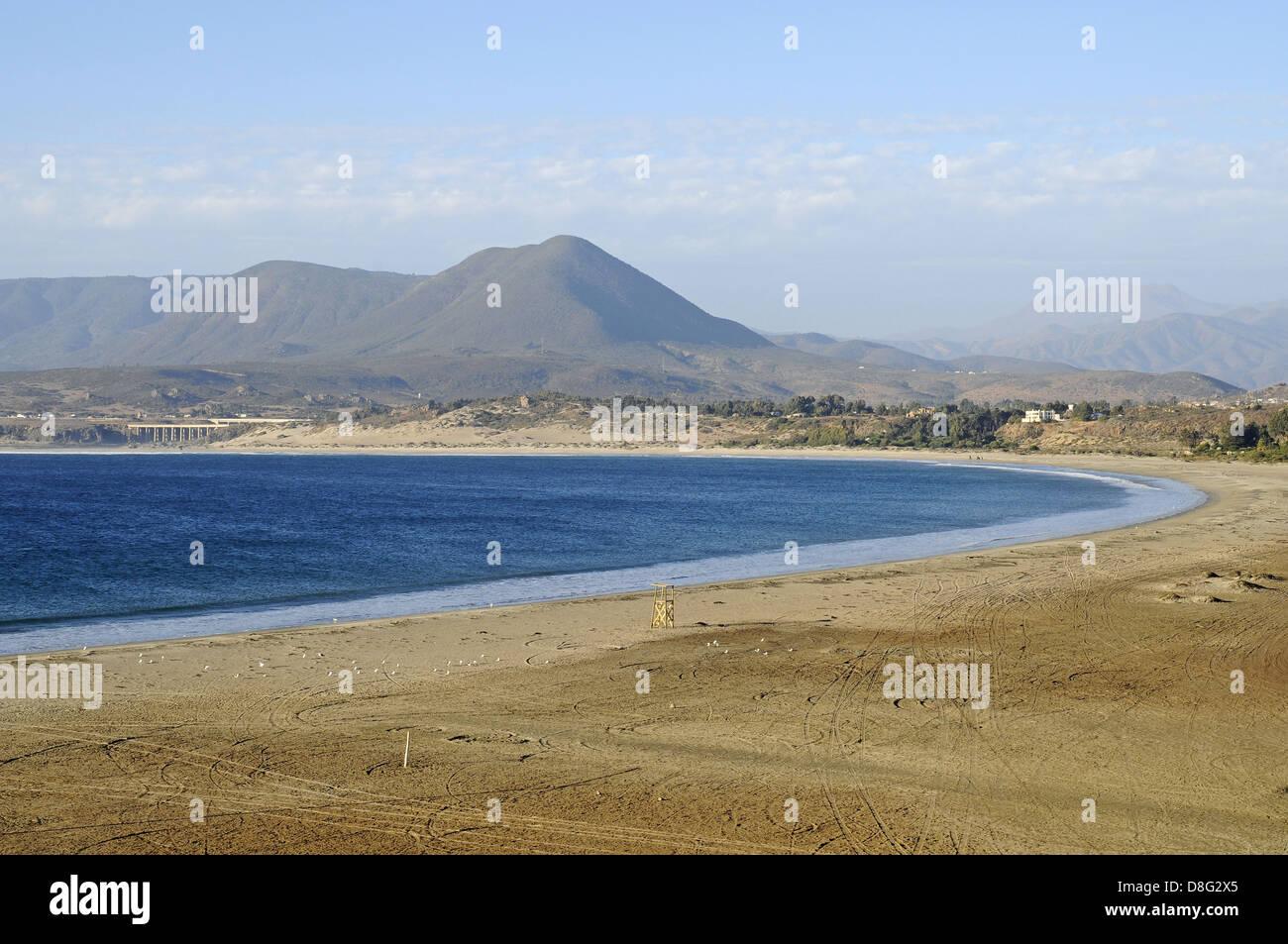 Empty beach - Stock Image