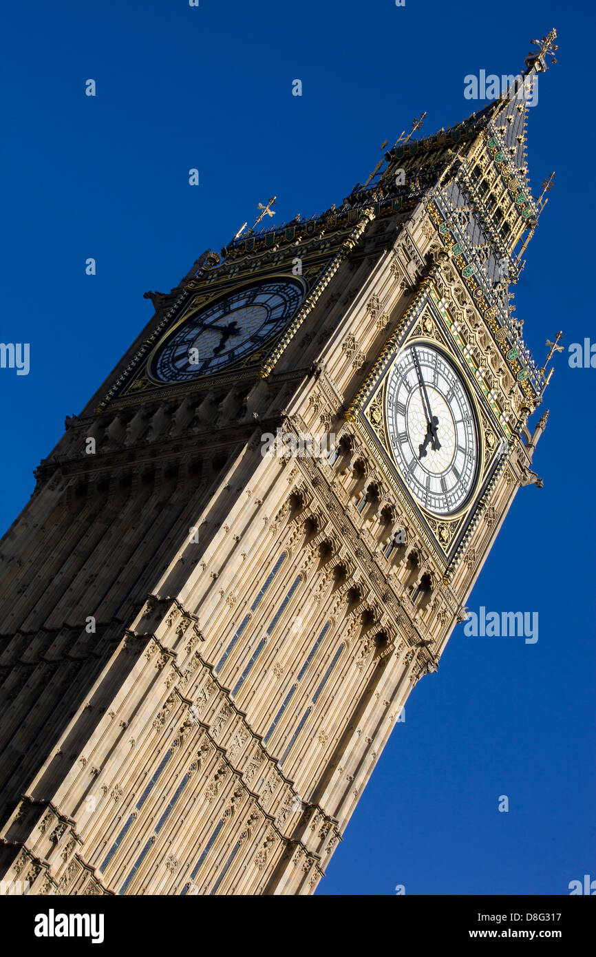 The Big Ben on a Sunny Day in London! Stock Photo