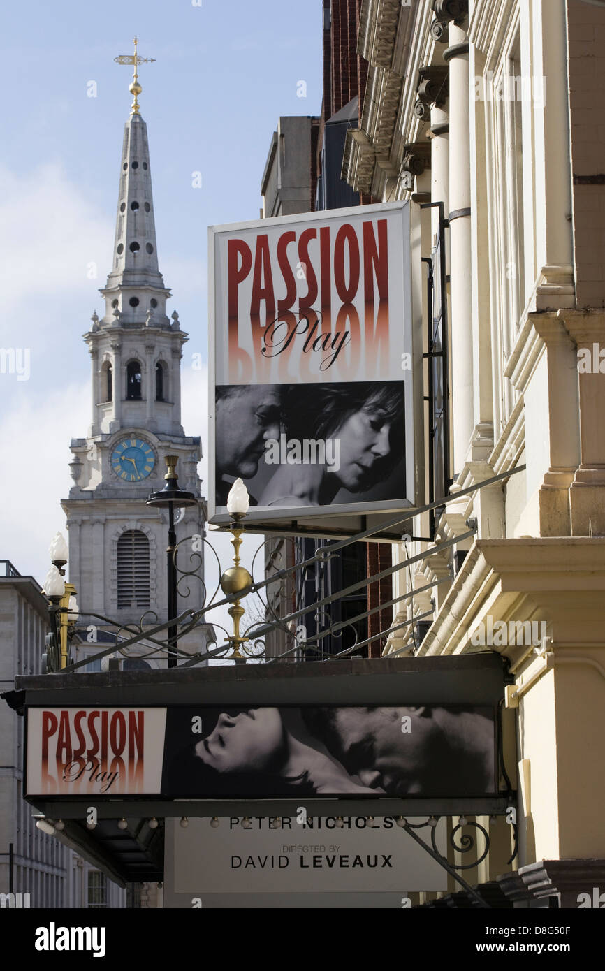 Advertisement Billboard The Passion Play - Stock Image