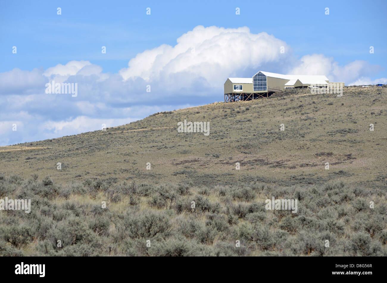 Oregon Trail Interpretive Center in Northeastern Oregon. - Stock Image