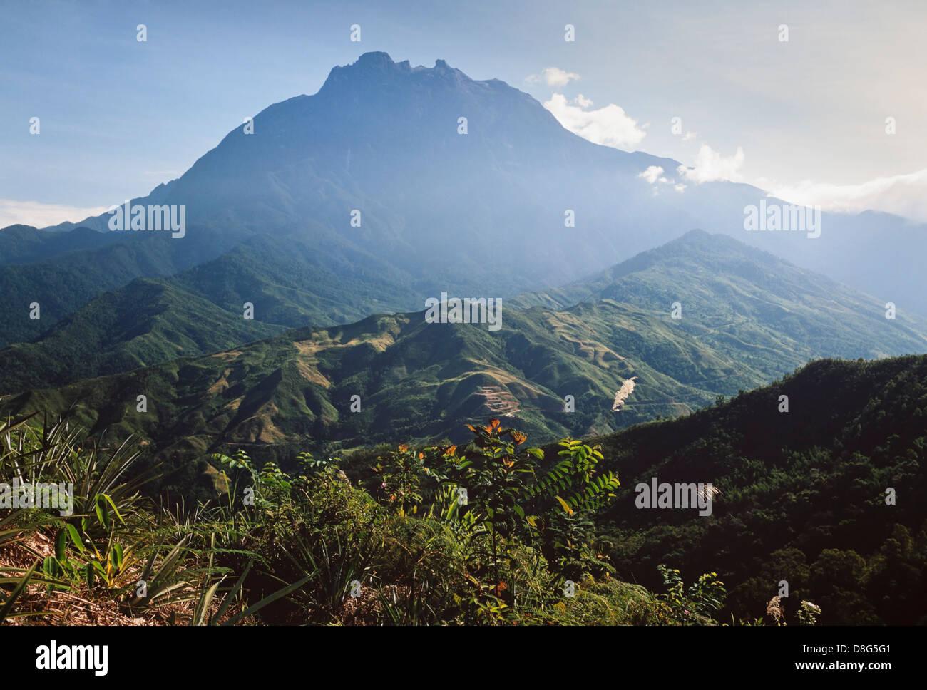 Gunung Kinabalu, Borneo, Sabah, East Malaysia, highest mountain in S.E.Asia, 4,095 m (13,435 ft) - Stock Image