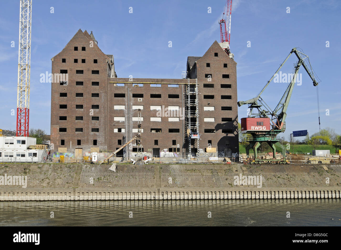 Old RWSG warehouse - Stock Image