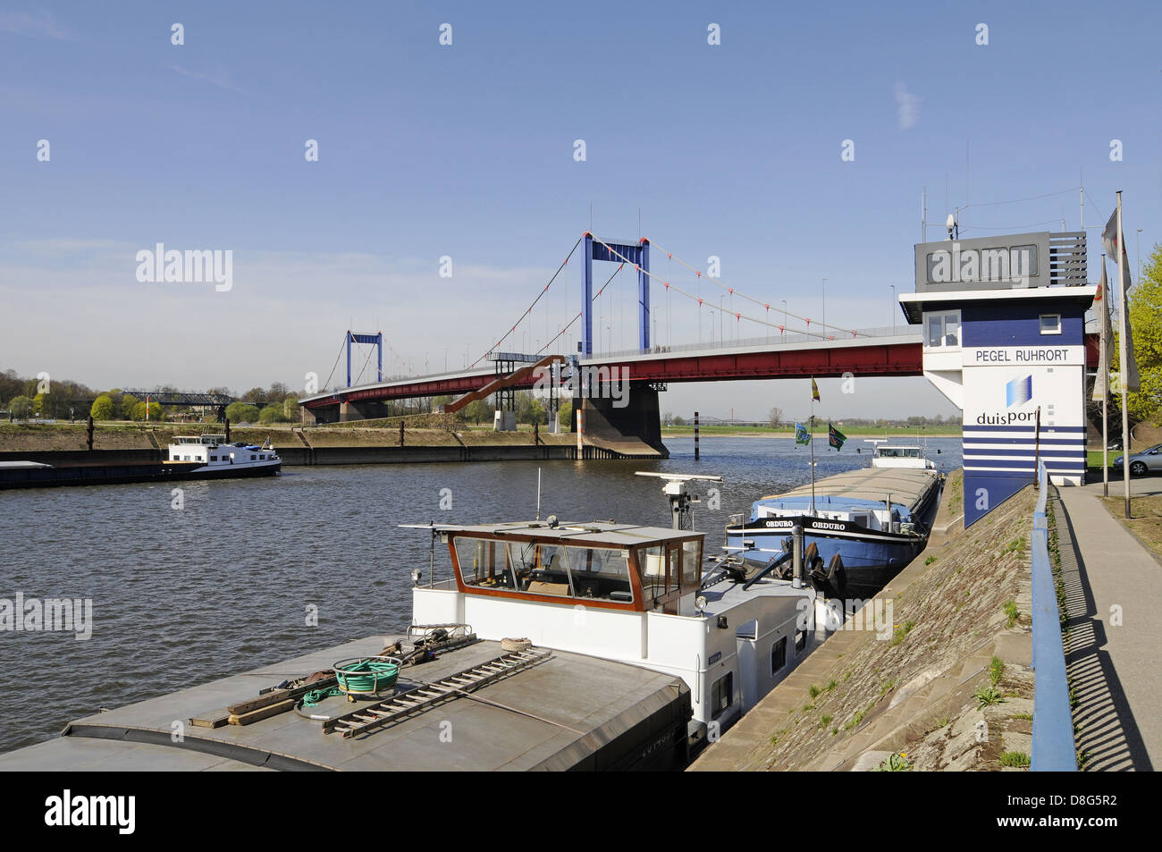 Friedrich-Ebert-Bruecke Rhine bridge - Stock Image