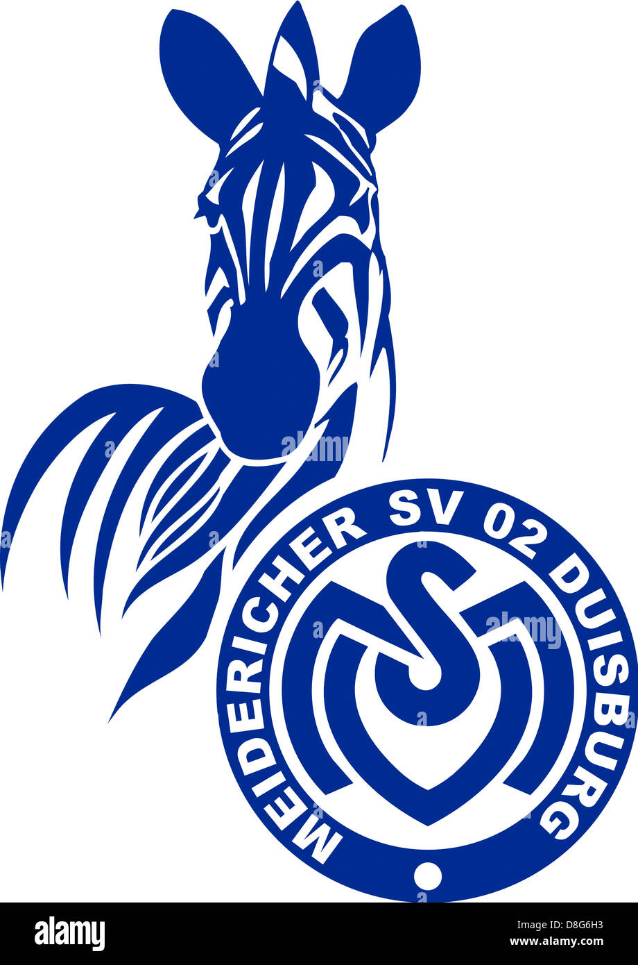 Logo of German football team MSV Duisburg. - Stock Image