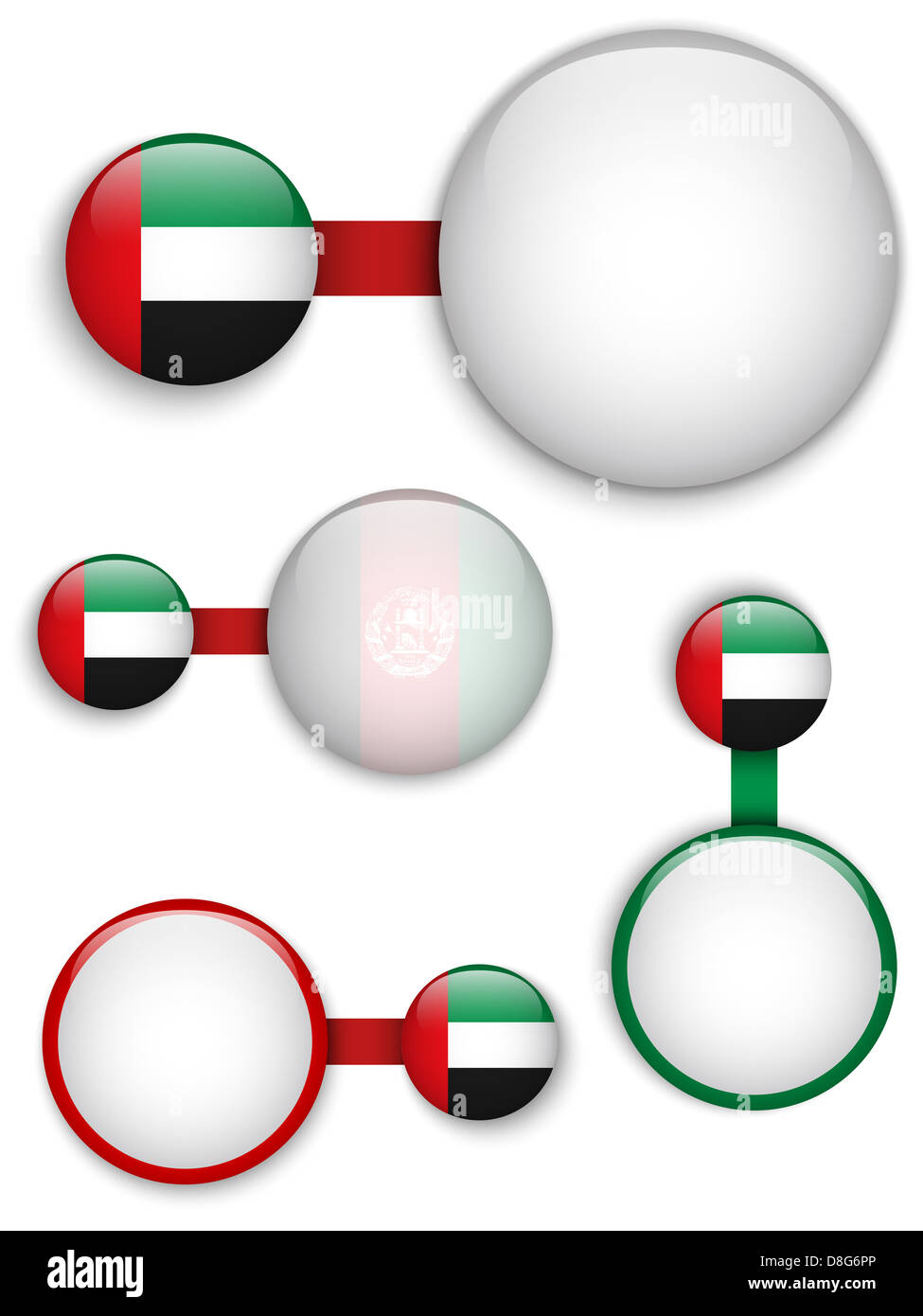 Vector - United Arab Emirates Country Set of Banners - Stock Image