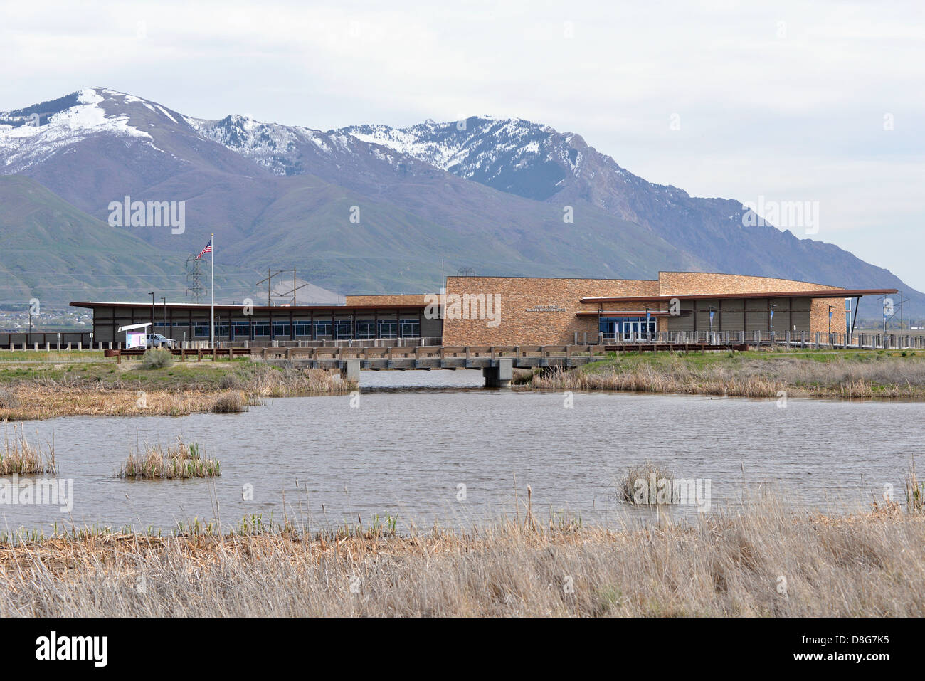 Visitor center of the Bear River Migratory Bird Refuge, Utah. - Stock Image