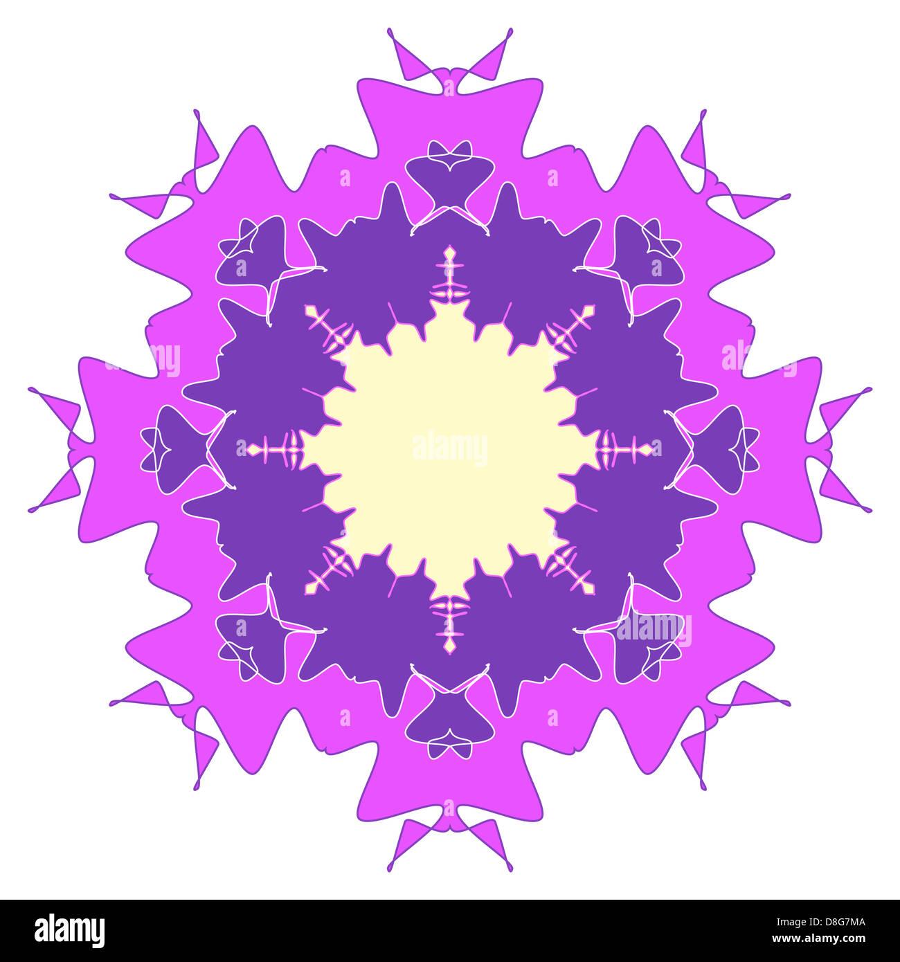 Artistic purple floral design Stock Photo