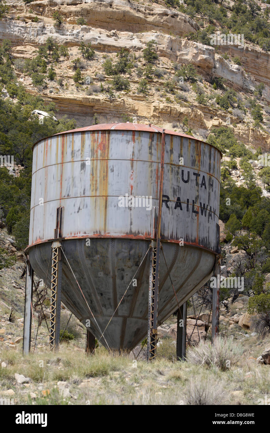 Utah Railway water tank Helper Utah. - Stock Image & Water Tank Old Stock Photos u0026 Water Tank Old Stock Images - Alamy
