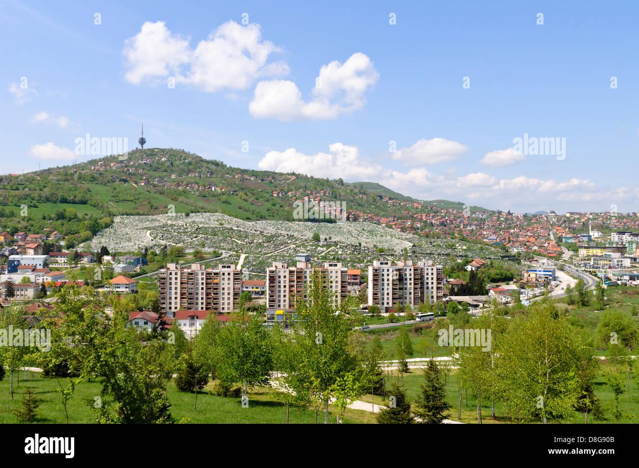 View of Sarajevo, Bosnia Herzegovina - Stock Image
