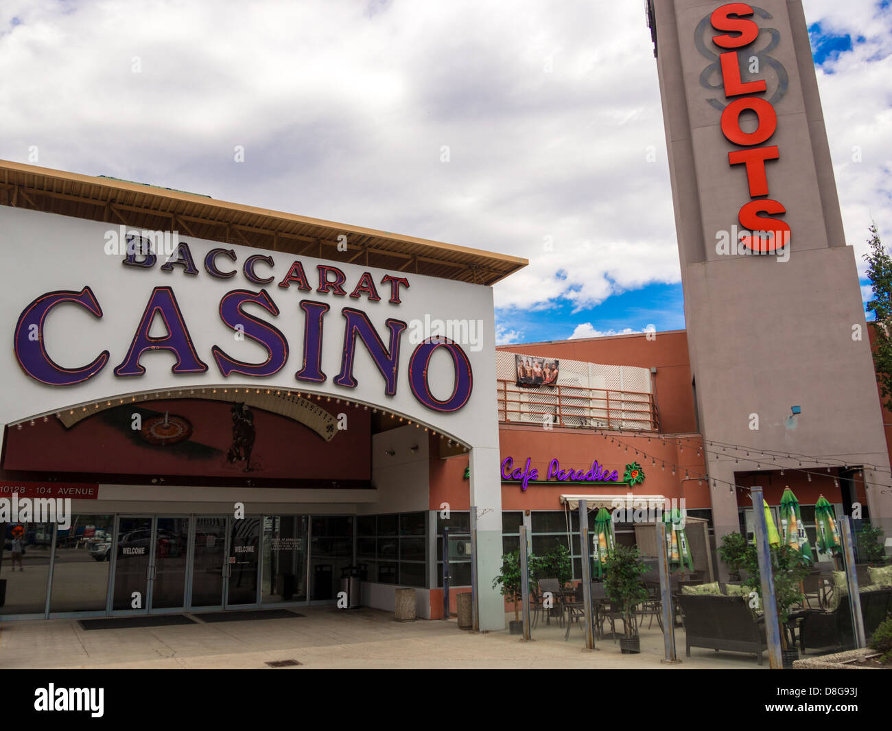 Downtown Baccarat Casino in Edmonton, possible future home of new hockey arena. - Stock Image
