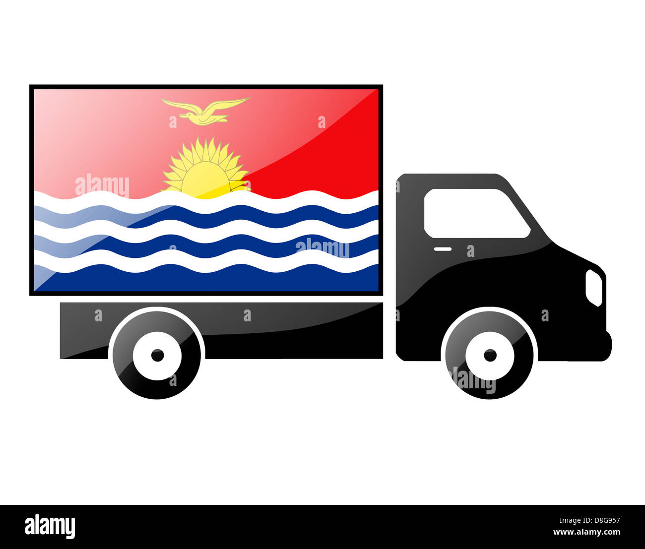 The Kiribati flag - Stock Image