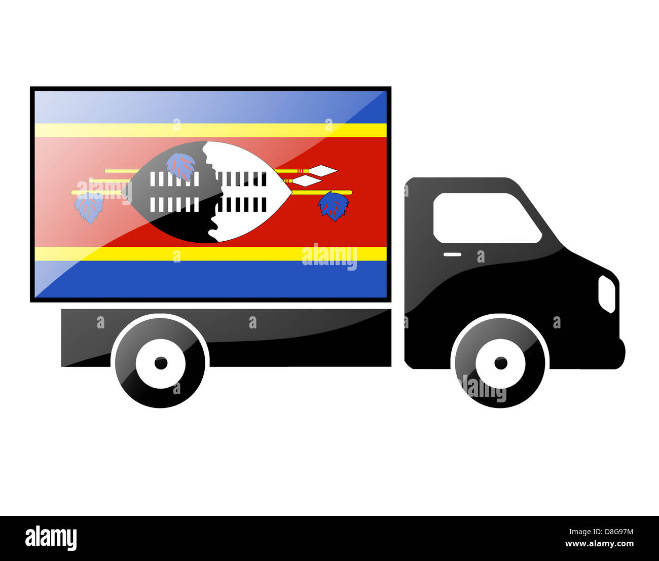The Swaziland flag Stock Photo