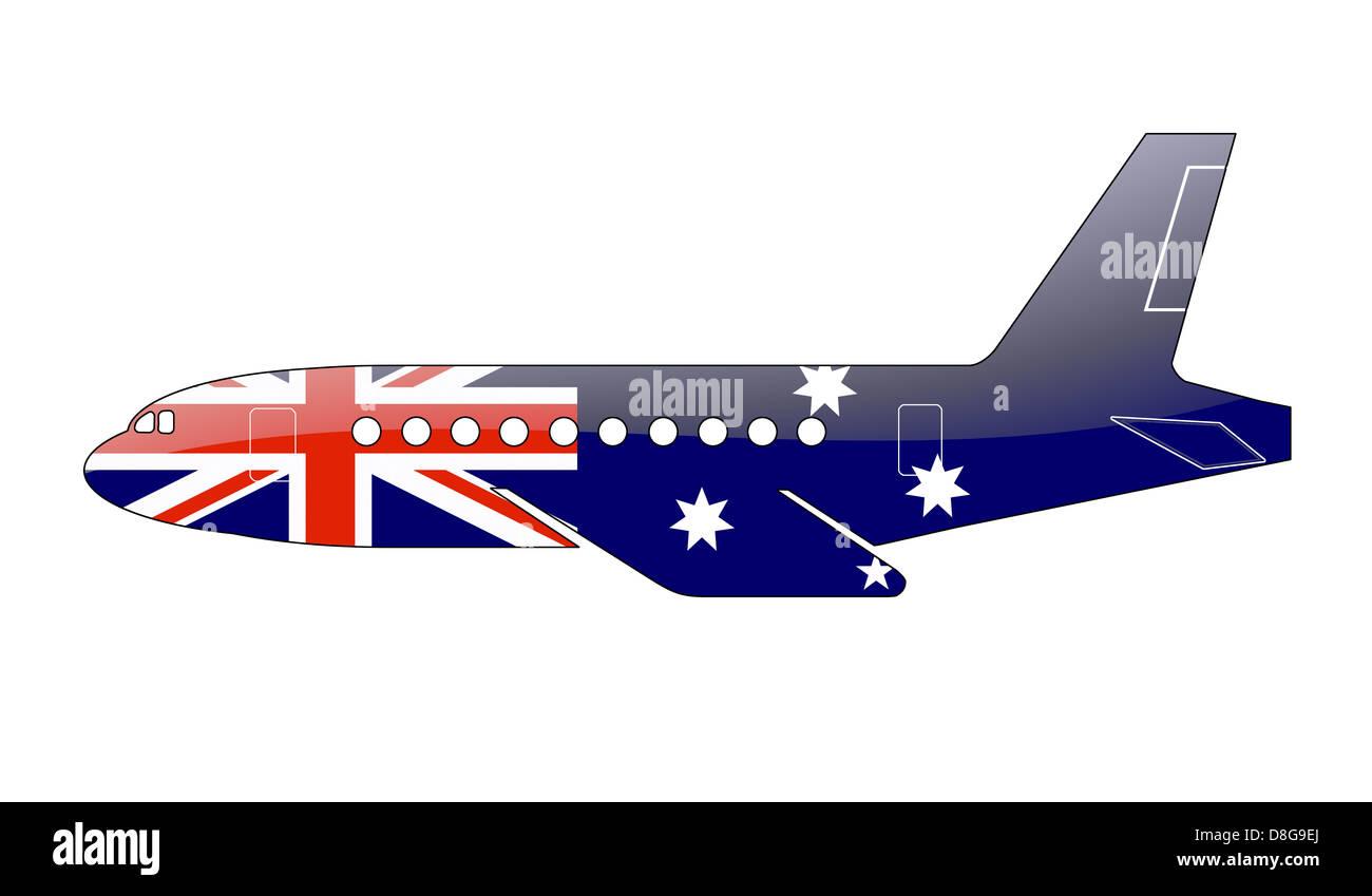 The Australian flag - Stock Image
