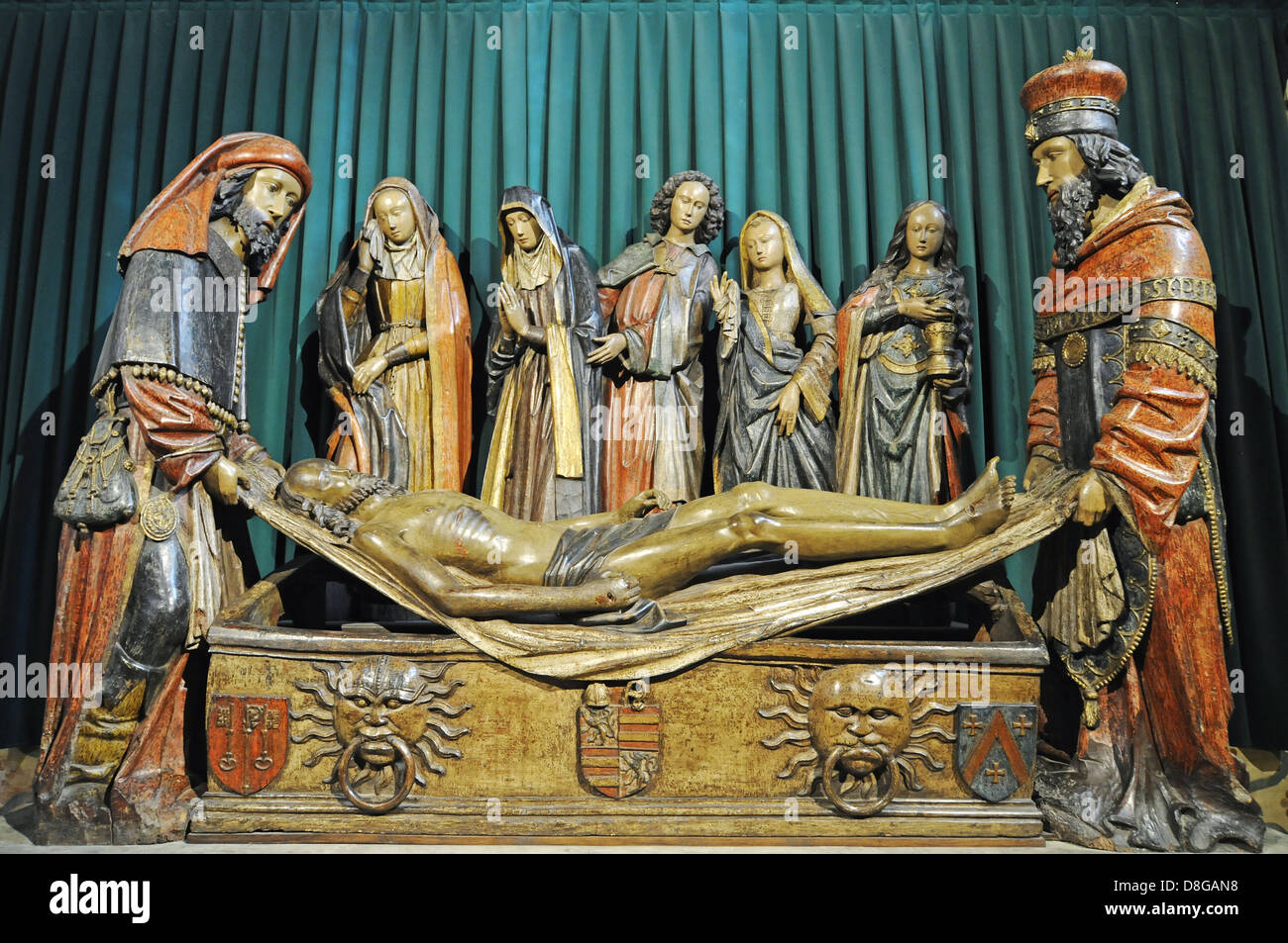 Entombment of Jesus - Stock Image