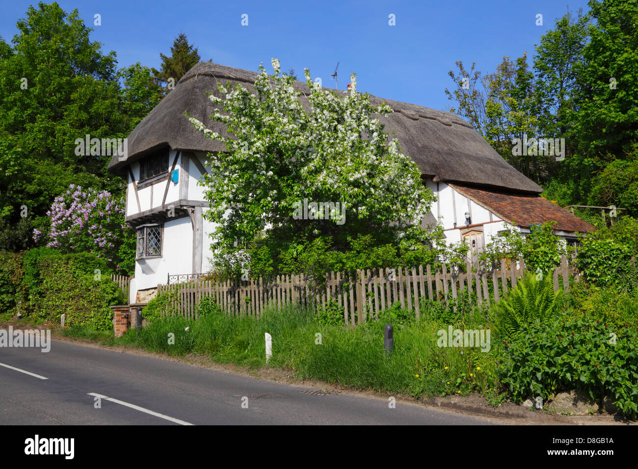 Thatched Cottage Pluckley Kent England UK GB - Stock Image