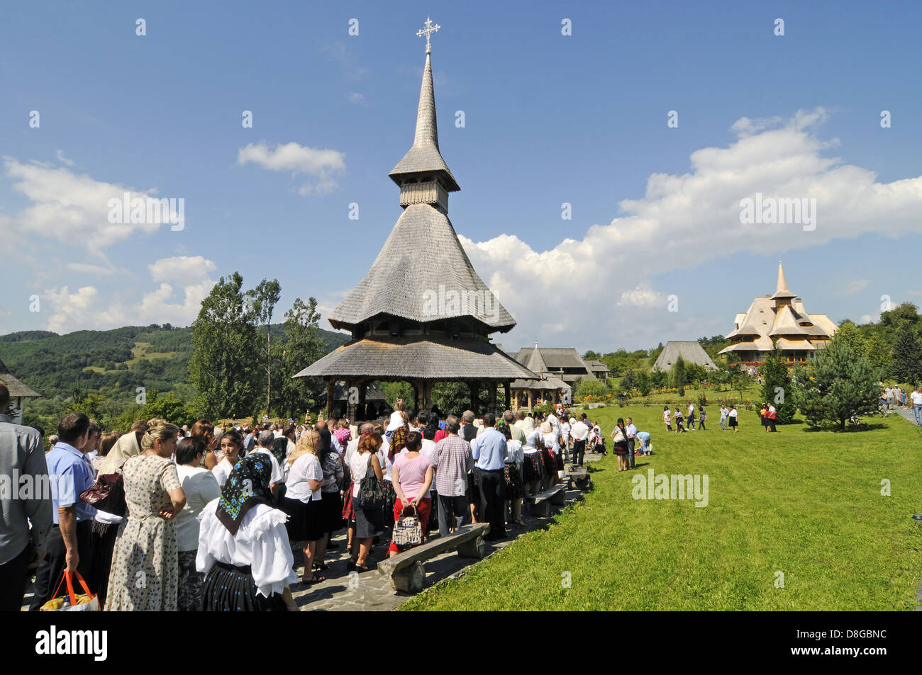 Wooden church - Stock Image