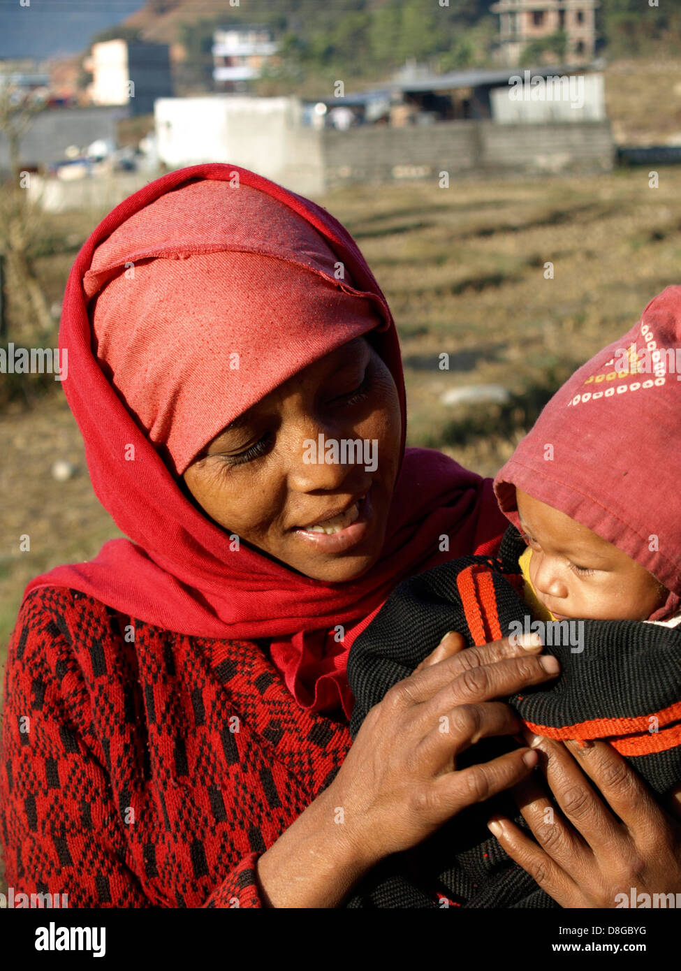 Nepalese mother and baby stock photos nepalese mother and baby nepal family amother in nepal nepalese people a portrait could be used as ccuart Gallery