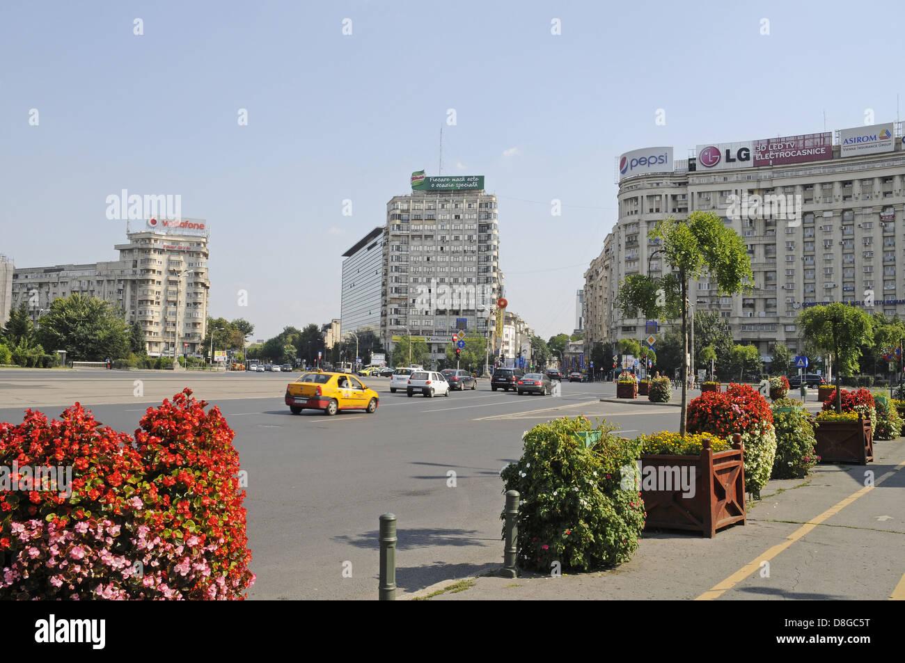 Piata Victoriei Square - Stock Image