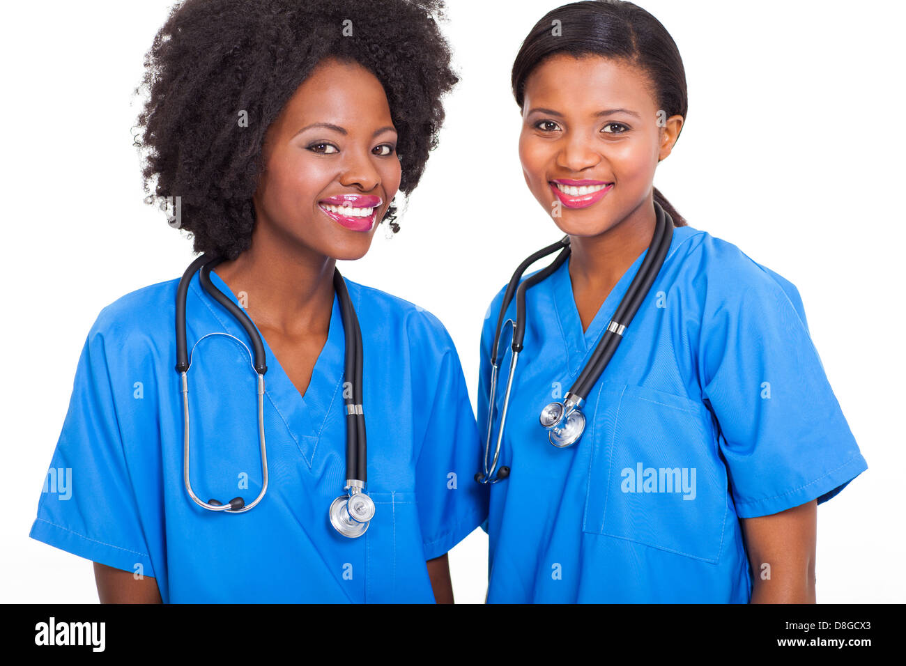 beautiful afro American interns nurses - Stock Image
