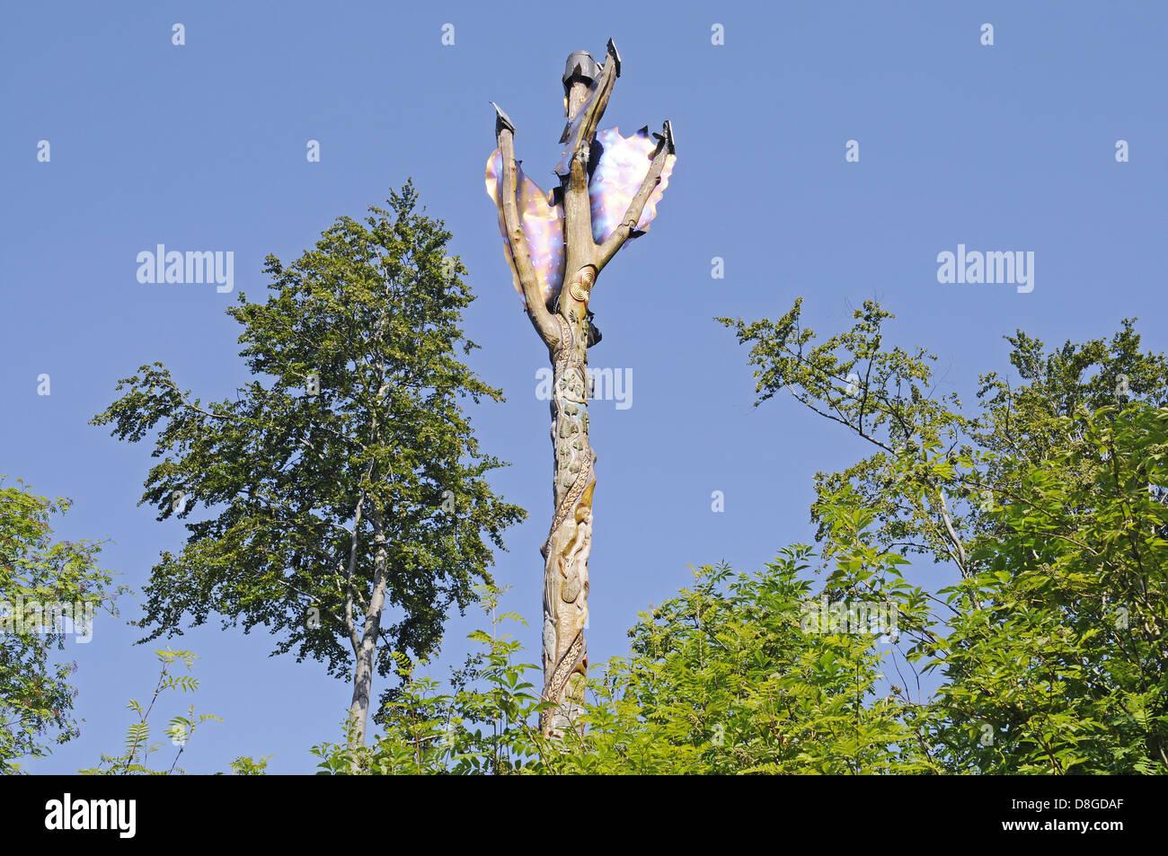 Fire Oak - Stock Image