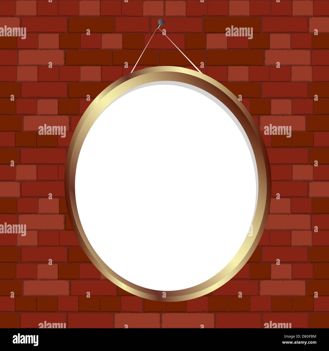 Oval frame - Stock Image