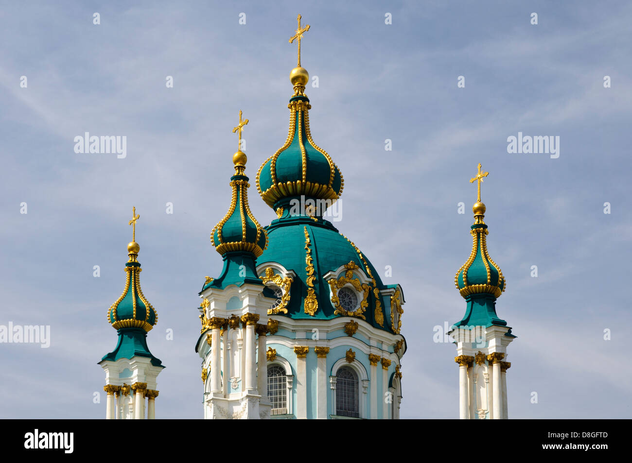 St. Andrew's Church, Kiew, Ukraine - Stock Image