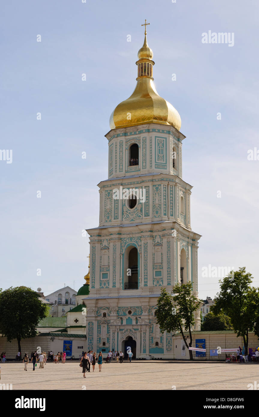 Belfry of the St. Sophia's Cathedral, Kiew, Ukraine - Stock Image