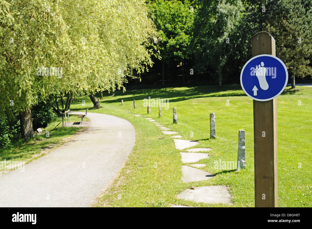 Barefoot Path - Stock Image