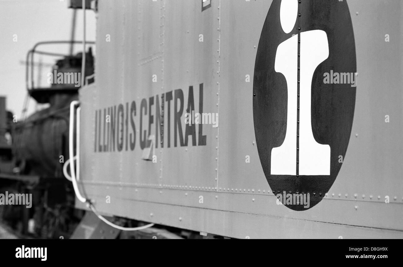Antique Illinois Central Railroad Caboose - Stock Image