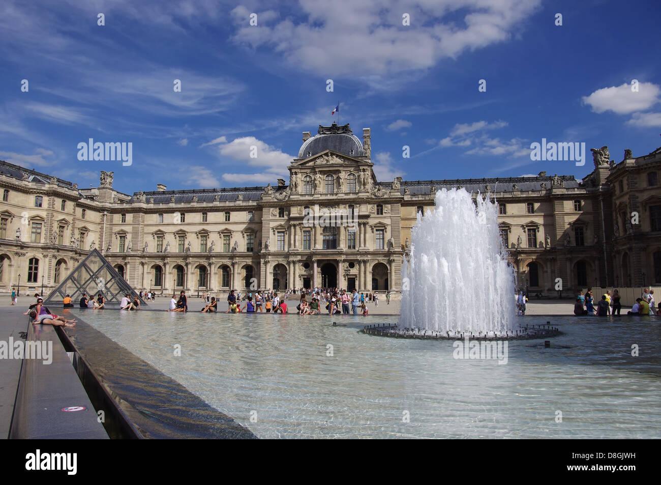 Louvre, Paris, - Stock Image
