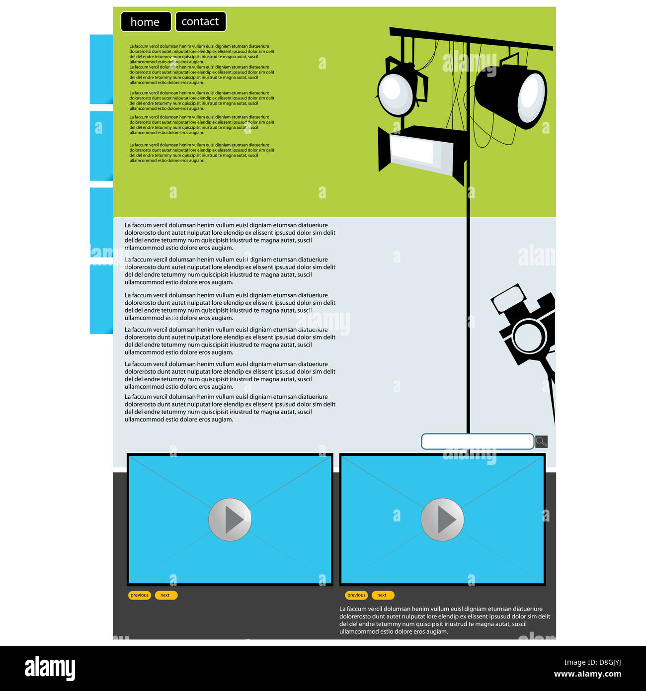Visual art web page layout - Stock Image