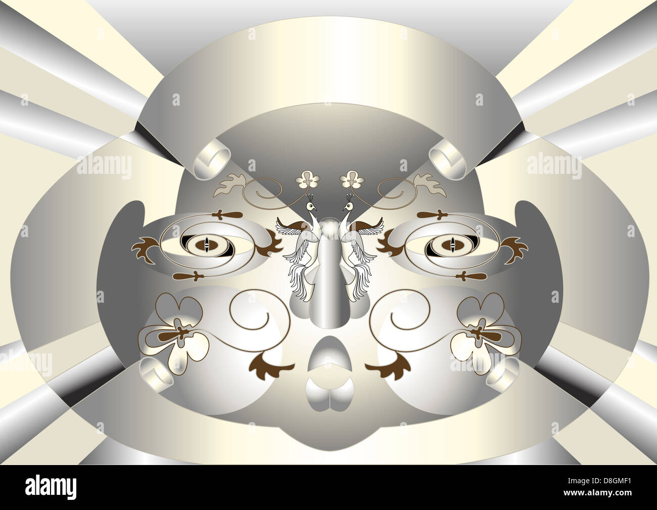 Abstract  Mask -banner composition. Stock Photo