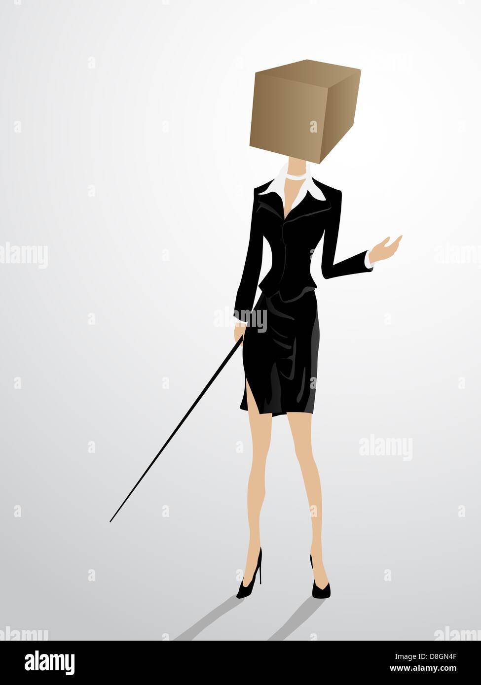 Square head - Stock Image