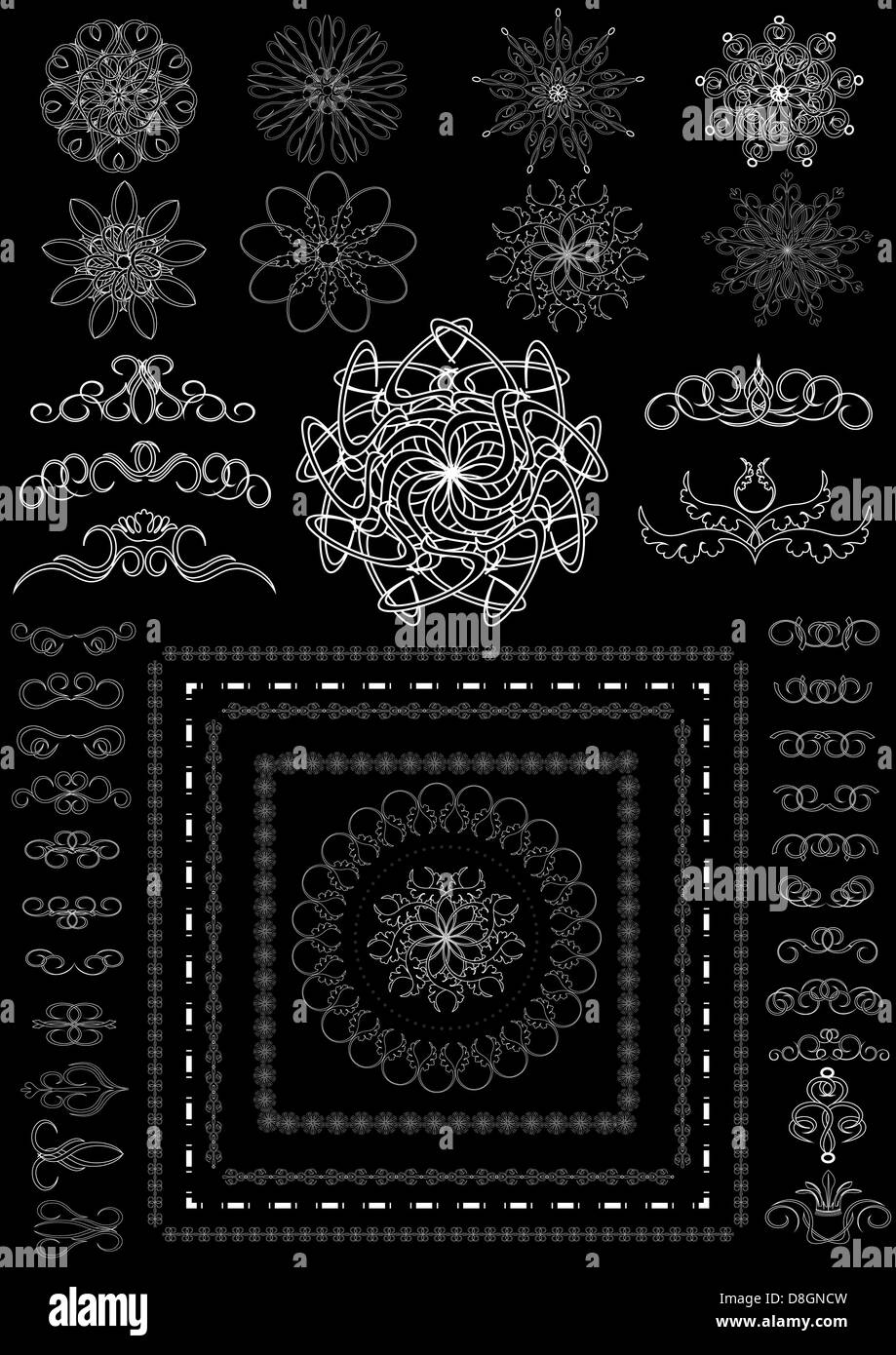 Version decorative calligraphic brush - Stock Image