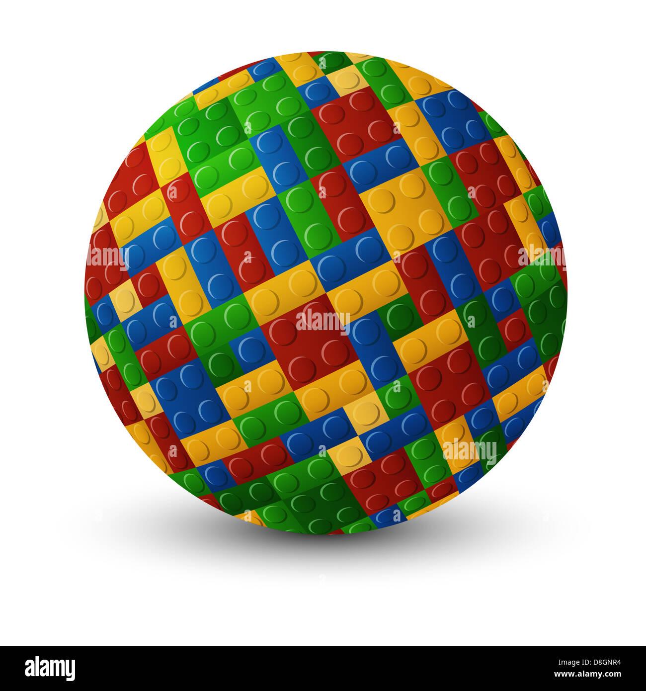 Plastic pieces sphere - Stock Image