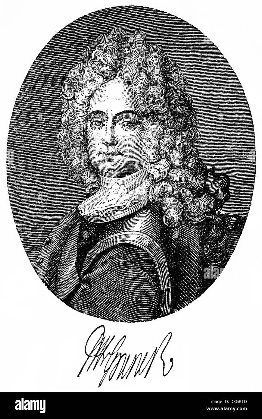 Friedrich Wilhelm von Grumbkow, 1678 - 1739, a Prussian Generalfeldmarschall and statesman, 18th century, Germany, - Stock Image
