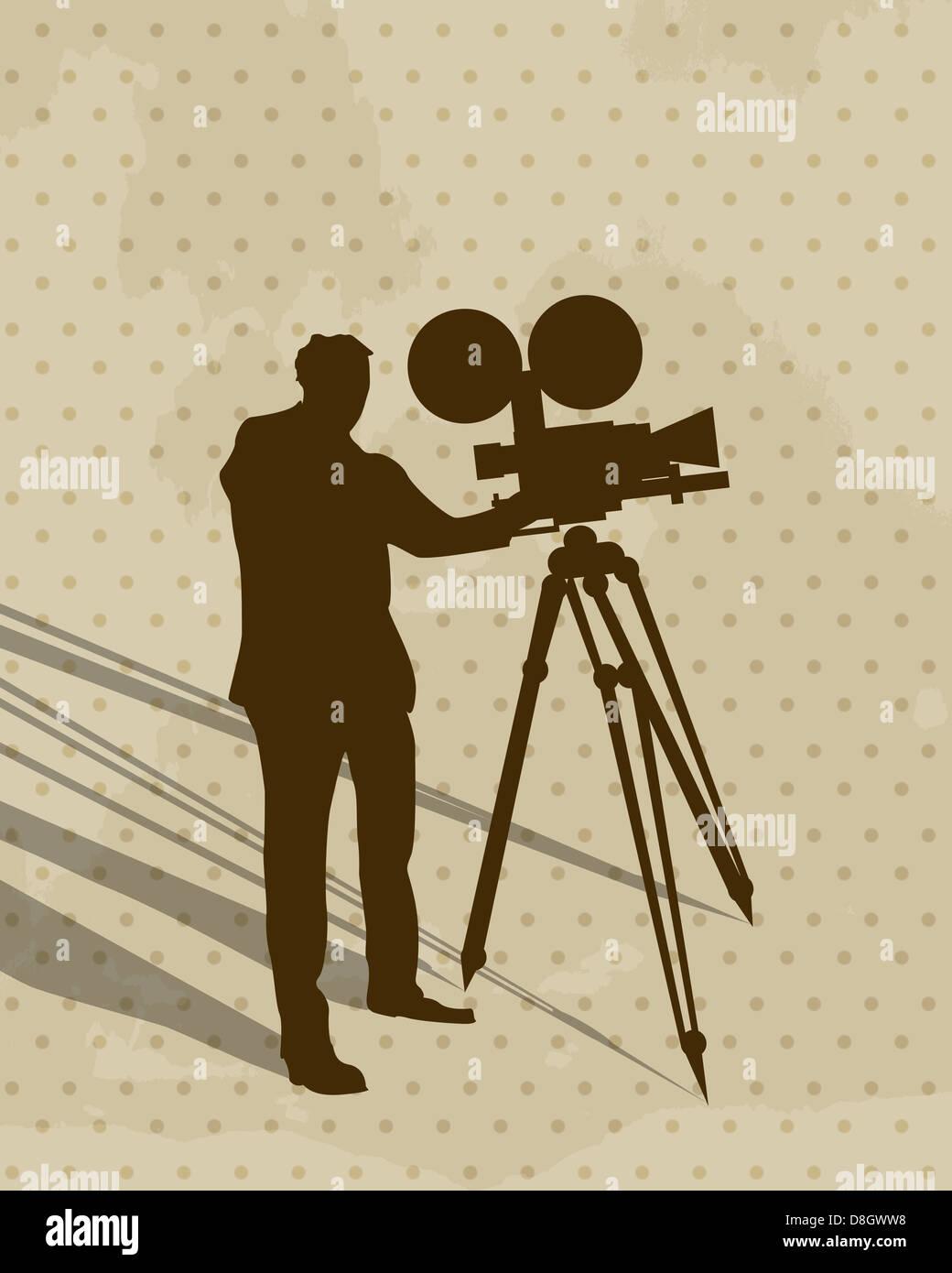 Camera man - Stock Image