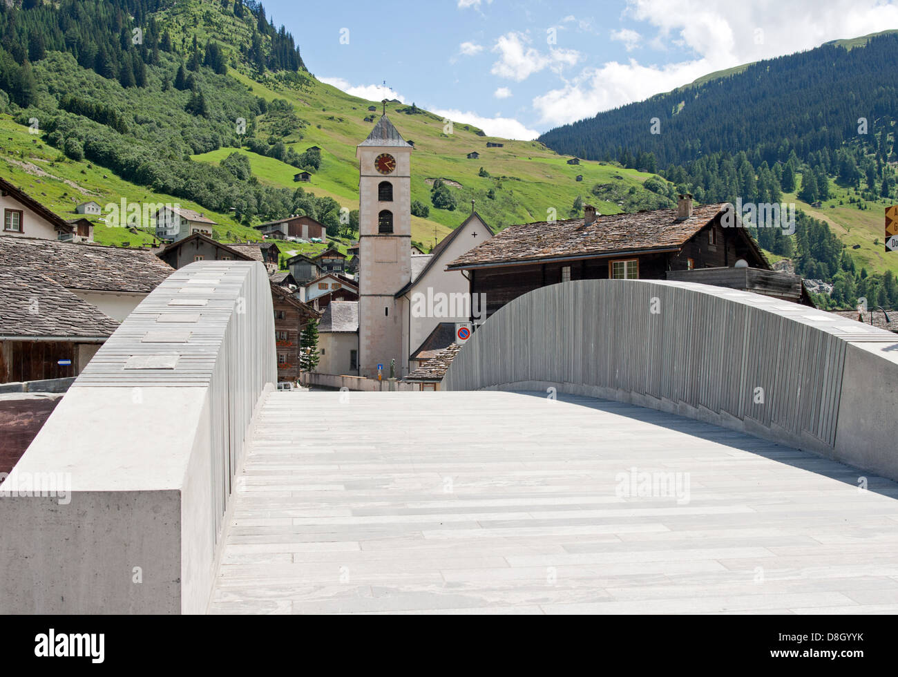 Village Vals, Swiss Stock Photo
