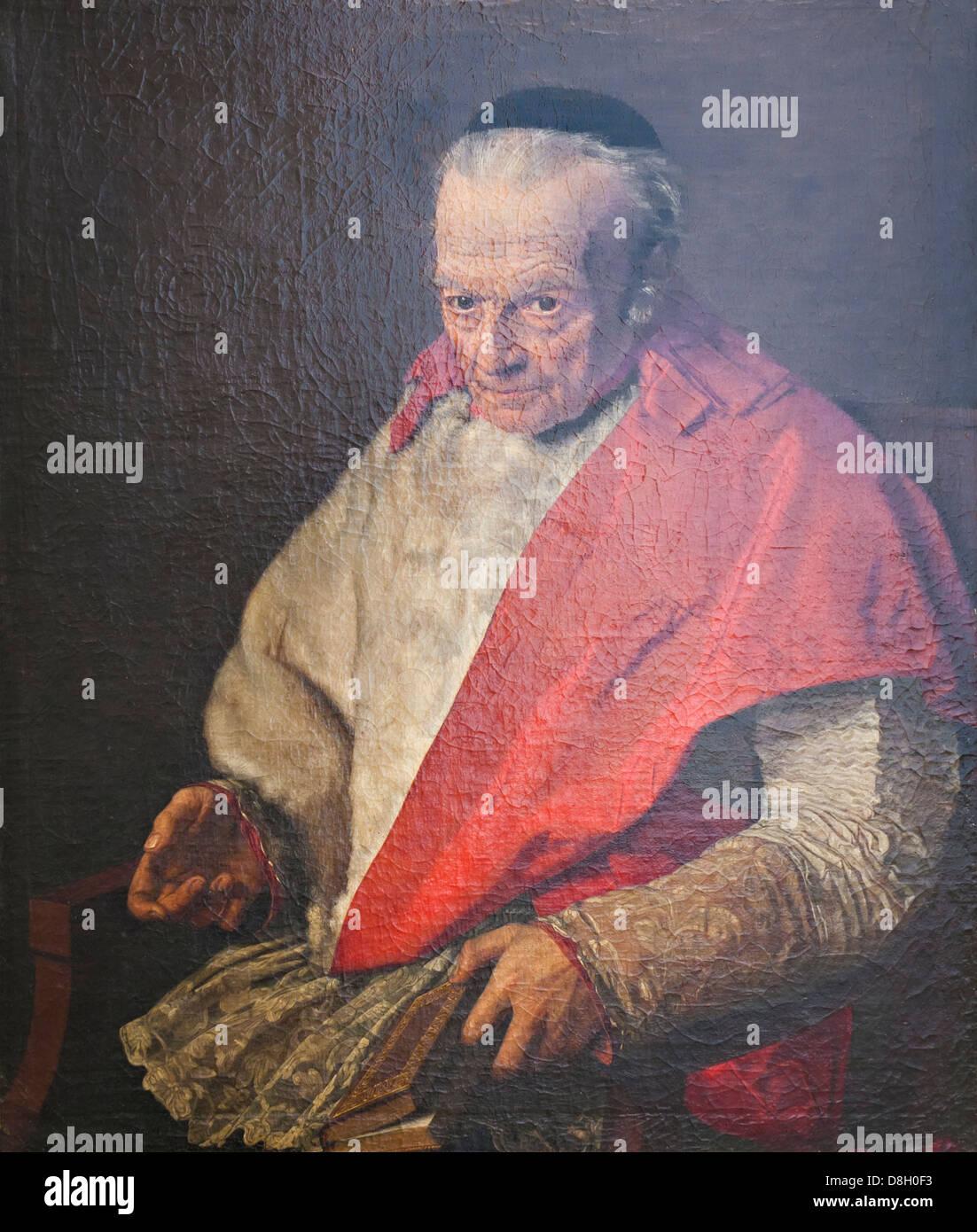 Ritratto del canonico Nicola Giordano,Gaetano Forte - Stock Image