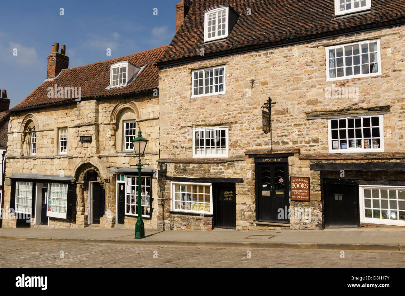 Jew's Court and Jew's House Lincoln Lincolnshire UK - Stock Image