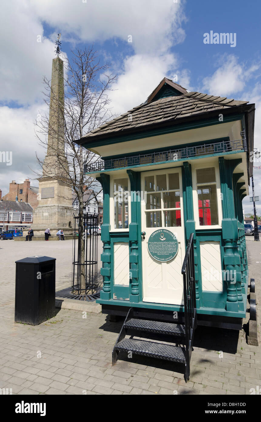Cabmen's shelter Ripon North Yorkshire UK - Stock Image